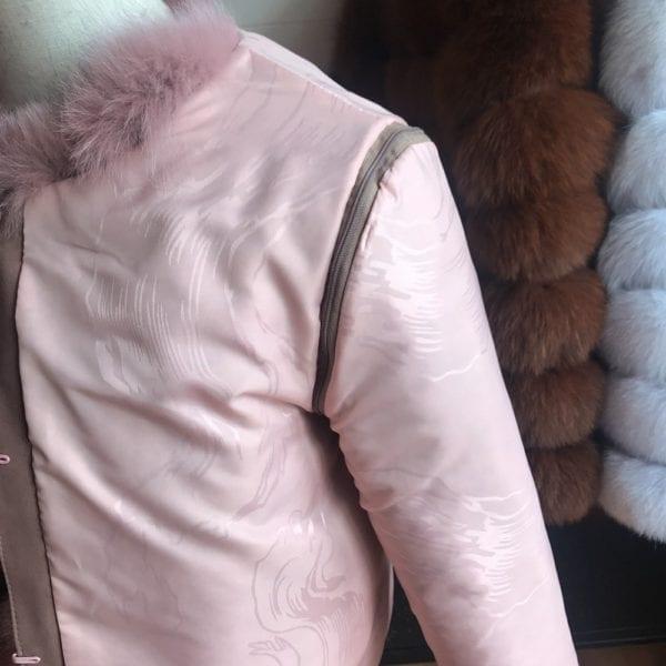 2019 55CM New Women Warm Real Fox Fur Coat Short Winter Fur Jacket Outerwear Natural Blue 11