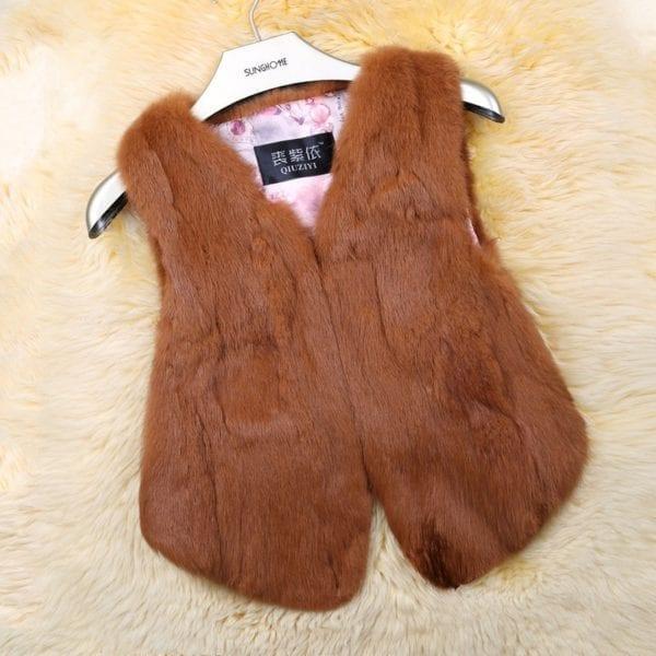 2019 Hot Sale Women Real Genuine Rabbit Fur Vest Fashion 100 Real Rabbit Fur Gilet Lady 10