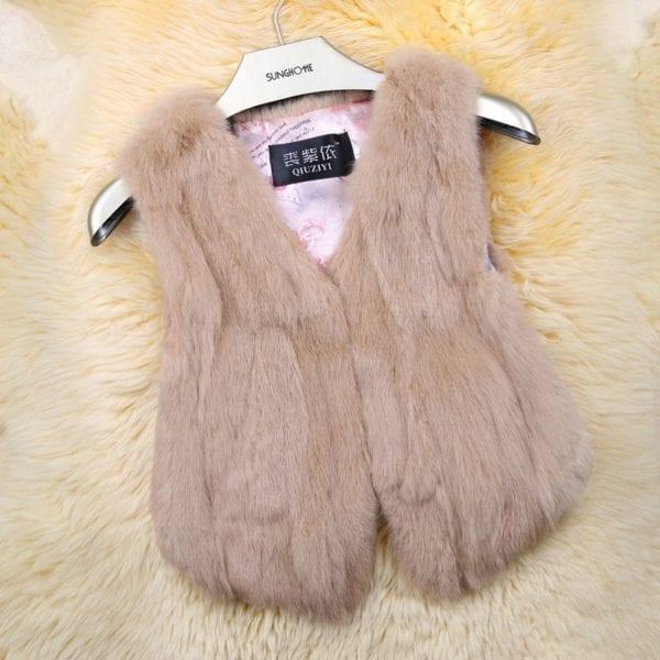 2019 Hot Sale Women Real Genuine Rabbit Fur Vest Fashion 100 Real Rabbit Fur Gilet Lady 11