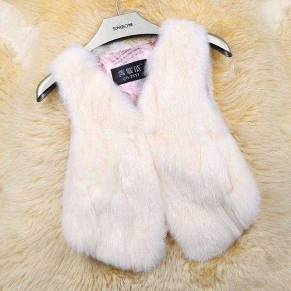 2019 Hot Sale Women Real Genuine Rabbit Fur Vest Fashion 100 Real Rabbit Fur Gilet Lady 9