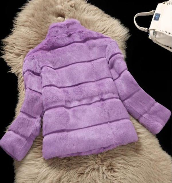 2019 Mandarin Collar Sheared genuine real natural women s rabbit fur coat fashional fur jacket all 1