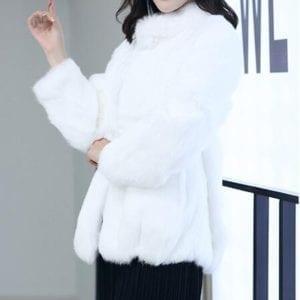 2019 Natural 100 Genuine Full Pelt Rabbit Fur Coat Women Fashion Whole Fur Wholesale Retail Jacket