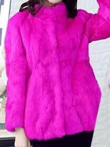 2019 Natural 100 Genuine Full Pelt Rabbit Fur Coat Women Fashion Whole Fur Wholesale Retail Jacket 4