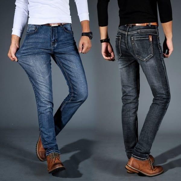 2019 New Mens Fashion Black Blue Jeans Men Casual Slim Stretch Jeans Classic Denim Pants Trousers 3