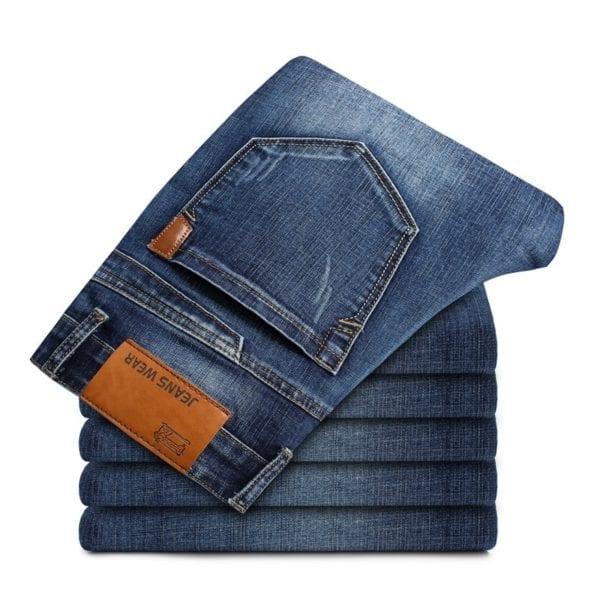 2019 New Mens Fashion Black Blue Jeans Men Casual Slim Stretch Jeans Classic Denim Pants Trousers 5