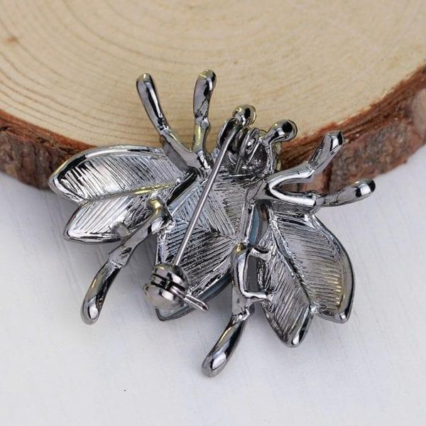 Cute Fashion Big Crystal Bee Animal Shiny Rhinestone Brooch Pins for Women Sweater Accessories Jewelry 3