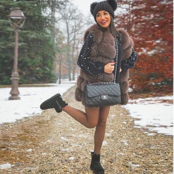 FURSARCAR Real Natural Fur Vest Women Fox Fur Coat 2019 New Luxury Female Fur Jacket Warm 8
