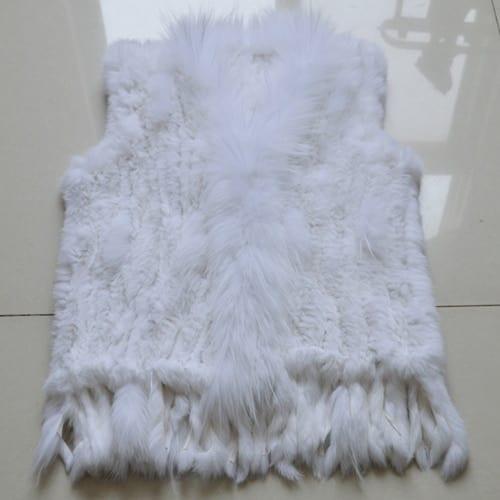 Hot Sale Women Genuine Real Rabbit Fur Vest Casual Real Raccoon Fur Collar Gilet Lady Handmade 6.jpg 640x640 6