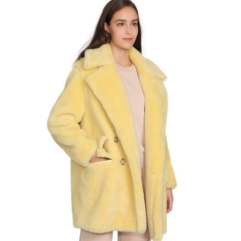 MAOMAOFUR Real Wool Teddy Coat Women New Fashion Real Sheep Fur Jacket Female Warm Oversize Winter 6
