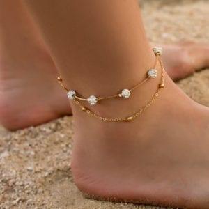 Modyle Bohemia 2pcs set Anklets for Women Foot Accessories 2019 Summer Beach Barefoot Sandals Bracelet ankle