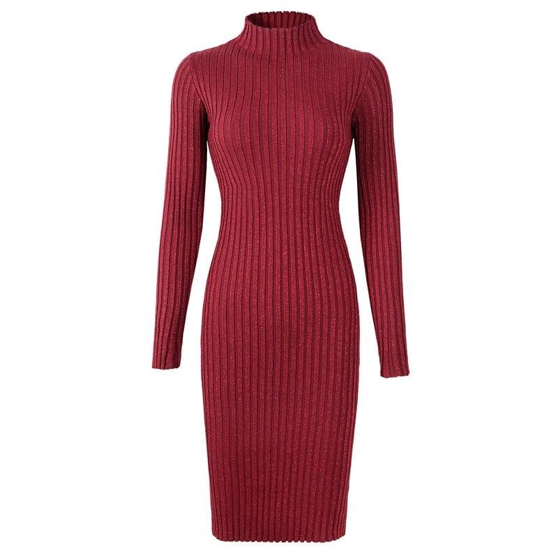 Neophil 2019 Winter Long Sexy Luxury Sequined Shining Elegant Women Dresses Elastic Striped Slim Knitted Sheath