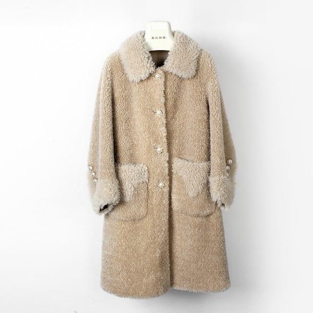 OFTBUY 2019 Casual Winter Jacket Women Real Fur Coat 100 Wool Content Woven Outerwear Teddy Polar 4.jpg 640x640 4