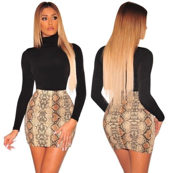 Sexy Women Snake Print Skirt Summer High Waist Mini Skirt Short Pencil Bodycon Femme Slim Package 2