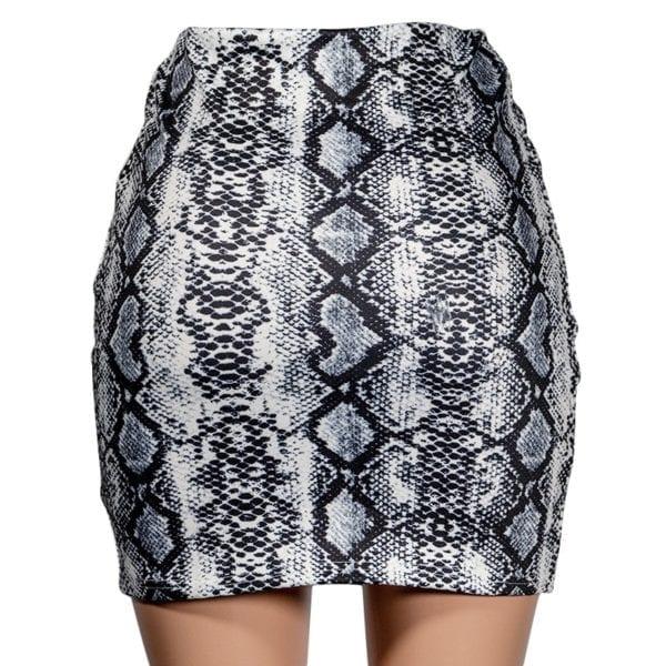 Sexy Women Snake Print Skirt Summer High Waist Mini Skirt Short Pencil Bodycon Femme Slim Package 4