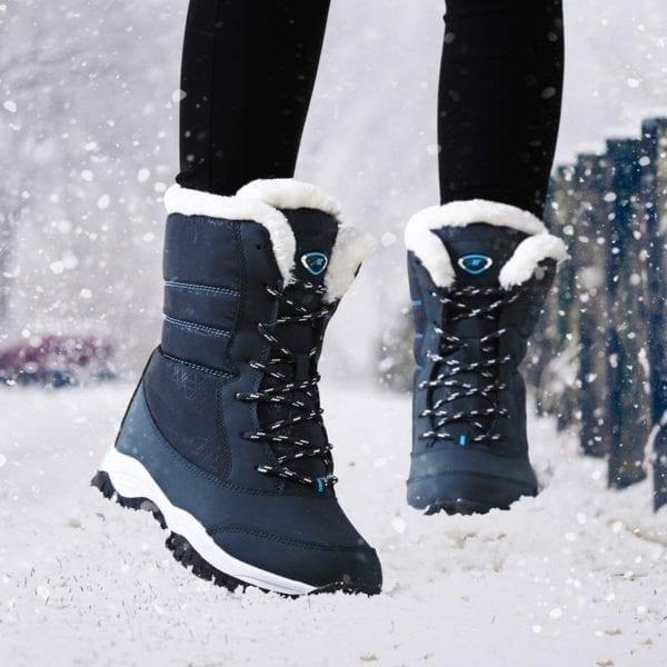 Waterproof plush winter boots women shoes platform winter shoes woman snow boots ladies shoes non slip 18