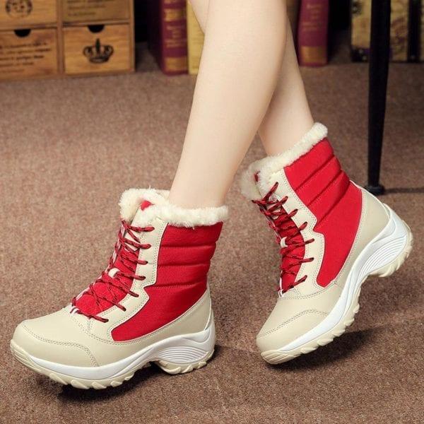Waterproof plush winter boots women shoes platform winter shoes woman snow boots ladies shoes non slip 19