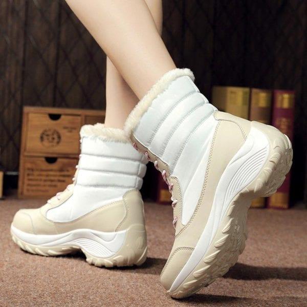 Waterproof plush winter boots women shoes platform winter shoes woman snow boots ladies shoes non slip 20
