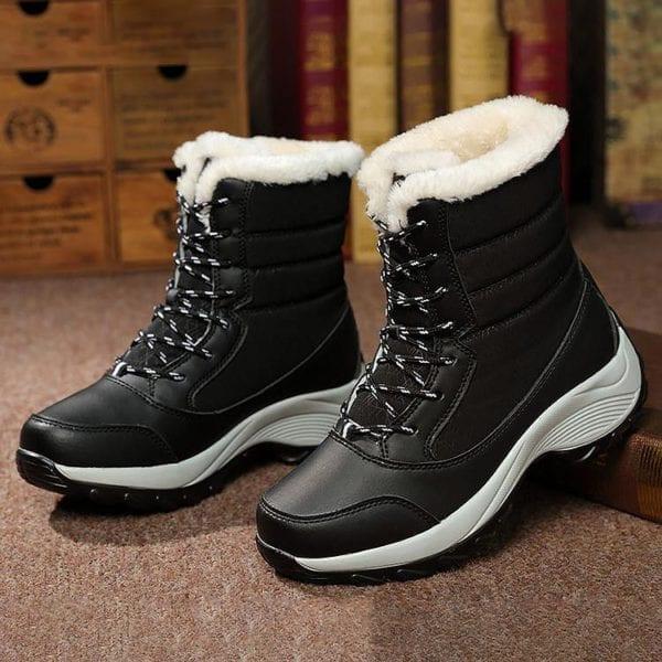 Waterproof plush winter boots women shoes platform winter shoes woman snow boots ladies shoes non slip 21