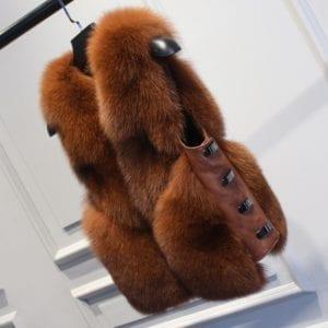 ZDFURS real fur fox fur coat design ladies winter really fox fur coat detachable real fur 6