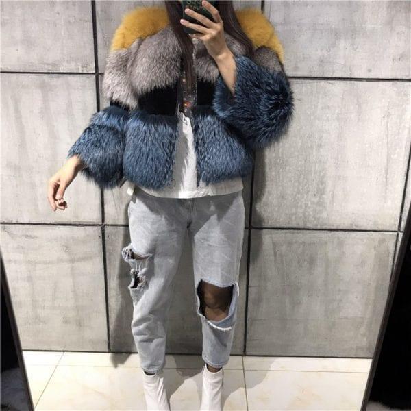 lady fur jacket women real fur jacket natural fur jacket upto 5xl 9