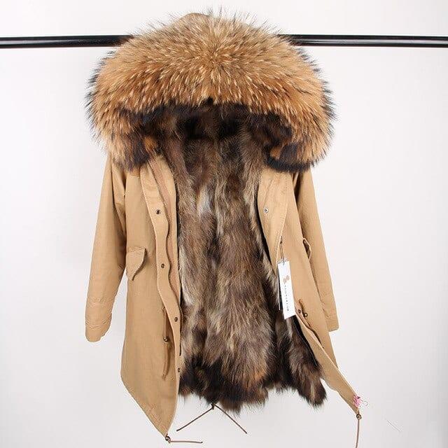 maomaokong 2018 natural real fox fur collar coat women winter jacket outwear parkas 5.jpg 640x640 5