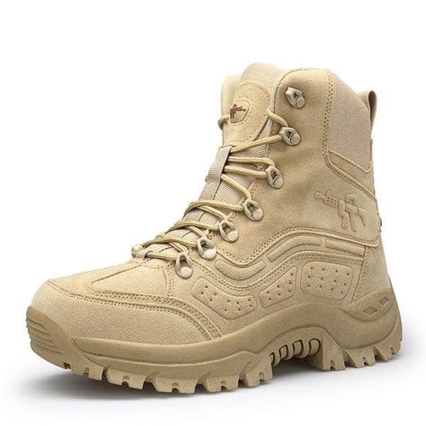 2019 New Winter Snow high quality military Flock Desert boots men tactical combat boots botas work 1