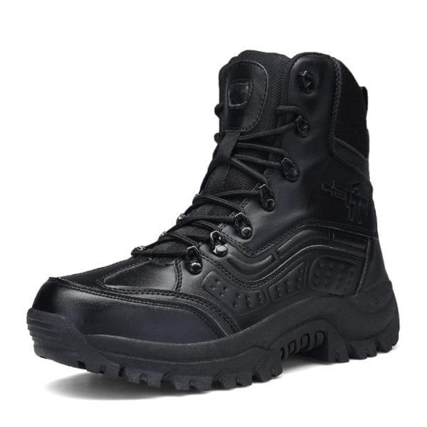 2019 New Winter Snow high quality military Flock Desert boots men tactical combat boots botas work 2