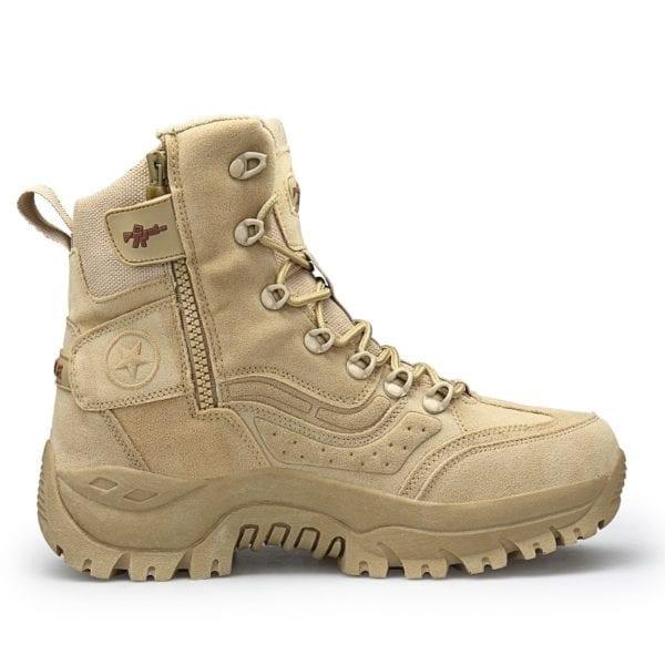 2019 New Winter Snow high quality military Flock Desert boots men tactical combat boots botas work