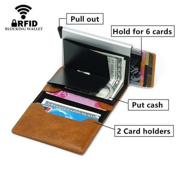 2019 Smart Wallet Business Card Holder Hasp Rfid Wallet Aluminum Metal Credit Business Mini Card Wallet 1