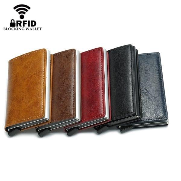 2019 Smart Wallet Business Card Holder Hasp Rfid Wallet Aluminum Metal Credit Business Mini Card Wallet 2