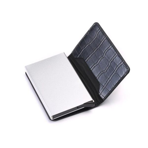 2019 Smart Wallet Business Card Holder Hasp Rfid Wallet Aluminum Metal Credit Business Mini Card Wallet 4