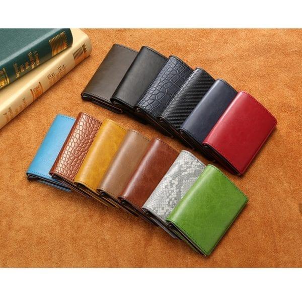 2019 Smart Wallet Business Card Holder Hasp Rfid Wallet Aluminum Metal Credit Business Mini Card Wallet 5