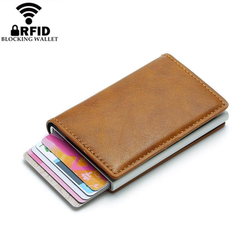 2019 Smart Wallet Business Card Holder Hasp Rfid Wallet Aluminum Metal Credit Business Mini Card Wallet