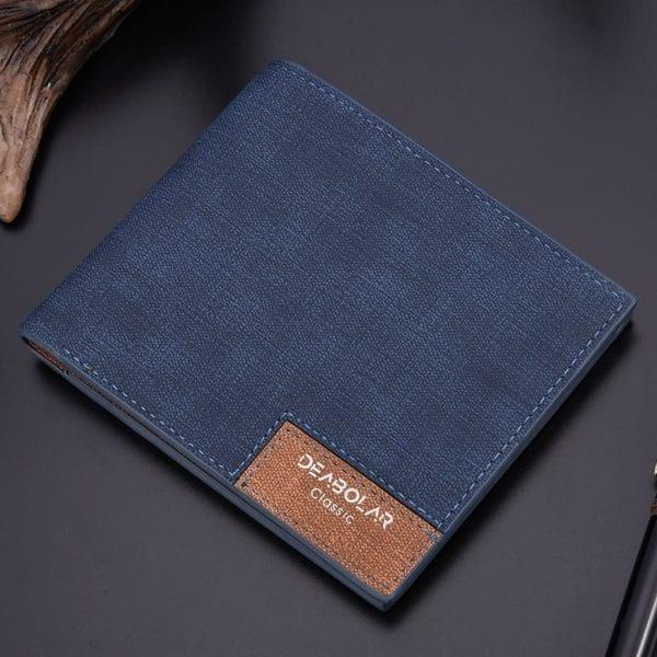 2019 minimalist men s short wallet retro youth wallet ultra thin men s cross section wallet 1