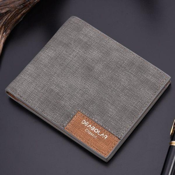2019 minimalist men s short wallet retro youth wallet ultra thin men s cross section wallet 2