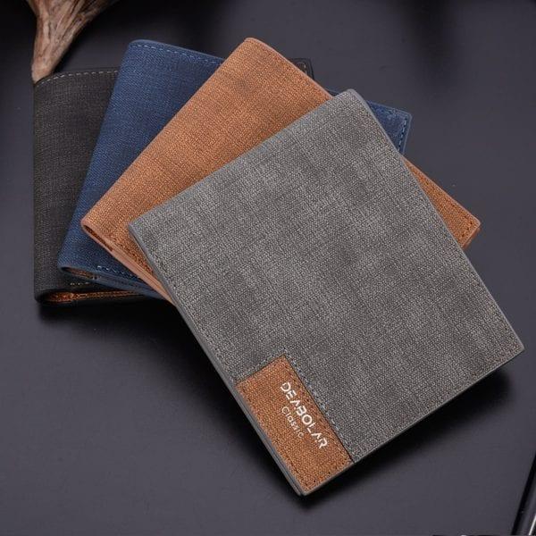 2019 minimalist men s short wallet retro youth wallet ultra thin men s cross section wallet 3