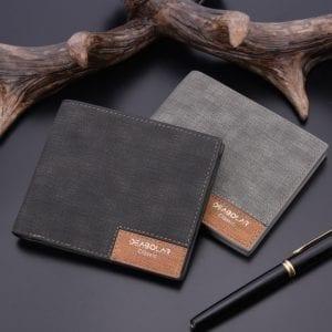 2019 minimalist men s short wallet retro youth wallet ultra thin men s cross section wallet
