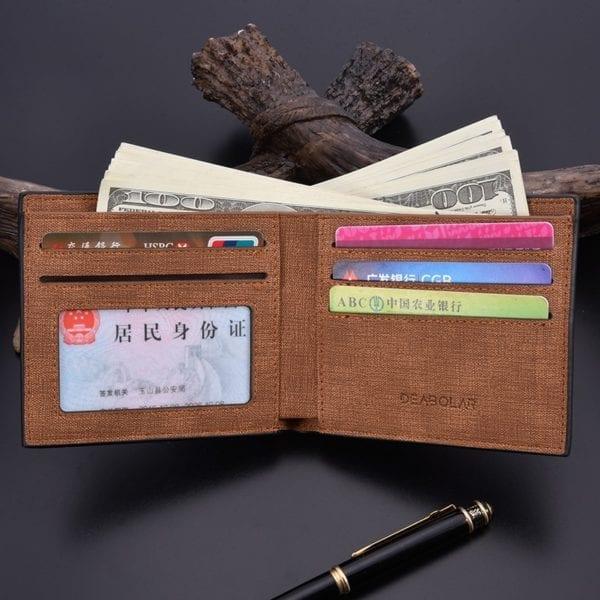 2019 minimalist men s short wallet retro youth wallet ultra thin men s cross section wallet 4