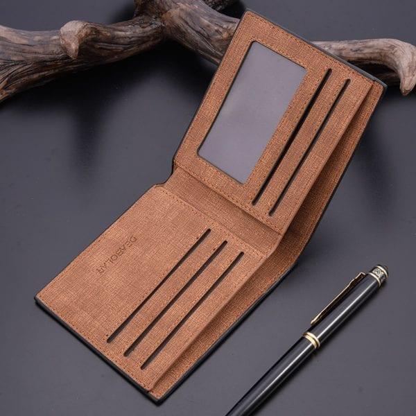 2019 minimalist men s short wallet retro youth wallet ultra thin men s cross section wallet 5