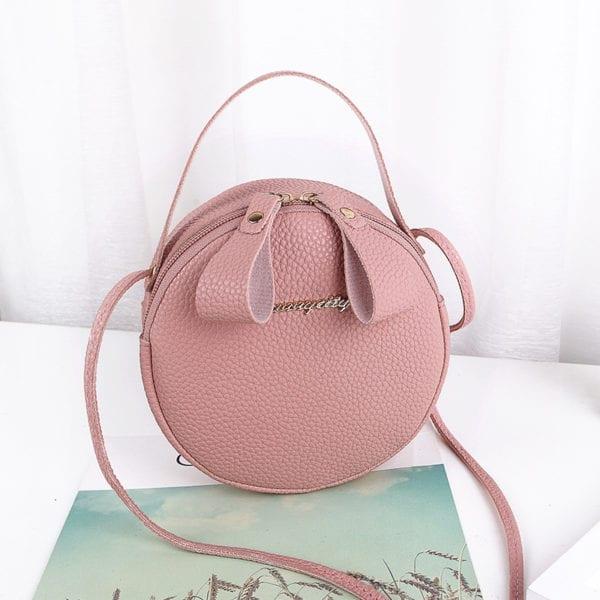 Design Fashion Women Round Bag Leather Women s Circular Crossbody Shoulder Messenger Bags Ladies Purse Female 4