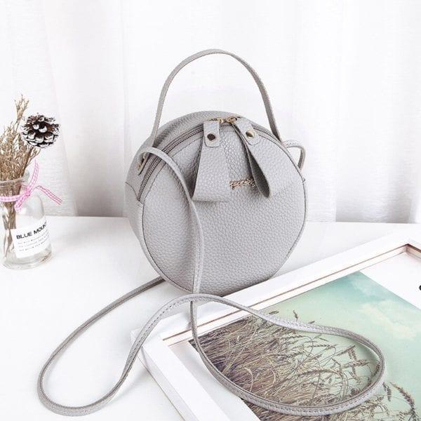 Design Fashion Women Round Bag Leather Women s Circular Crossbody Shoulder Messenger Bags Ladies Purse Female 5