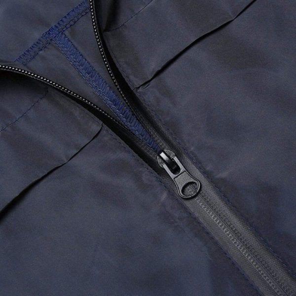 Fashion Ladies Long sleeved Waterproof Suit Outdoor Hooded Raincoat Jacket Coat Solid Color 4