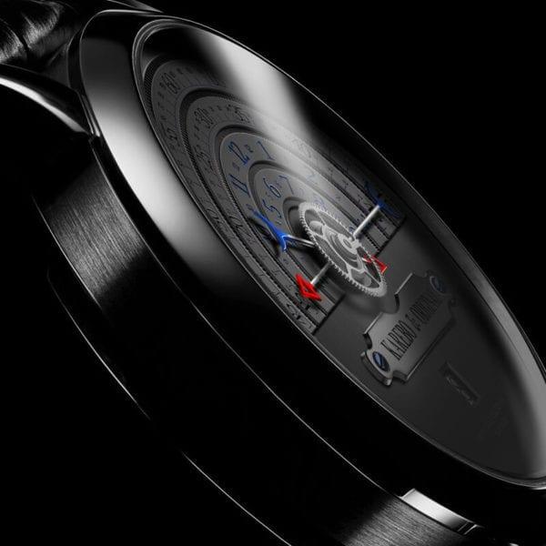 KAREBO Men Ultrathin Semi Circle Time Scale Mechanical Wristwatch With ETA2824 Automtatic Self Wind Movement Watch 3