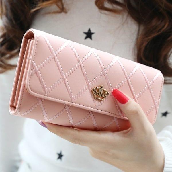 Luxury Brand Women Wallets Long Zipper Coin Purses Fashion Hasp Thread Wallet Design Clutch Female Money