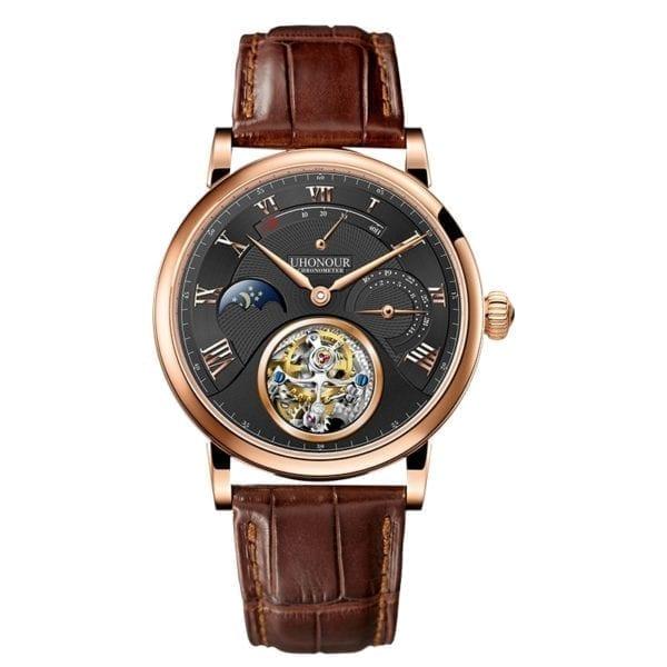 Luxury Switzerland Mechanical Watch Men s Seagull Tourbillon ST8007 Movement Hollow Men Wrist Watches Calendar Reloj 11