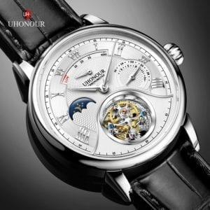 Luxury Switzerland Mechanical Watch Men s Seagull Tourbillon ST8007 Movement Hollow Men Wrist Watches Calendar Reloj 6