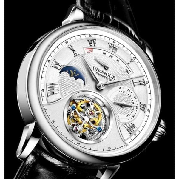 Luxury Switzerland Mechanical Watch Men s Seagull Tourbillon ST8007 Movement Hollow Men Wrist Watches Calendar Reloj 7