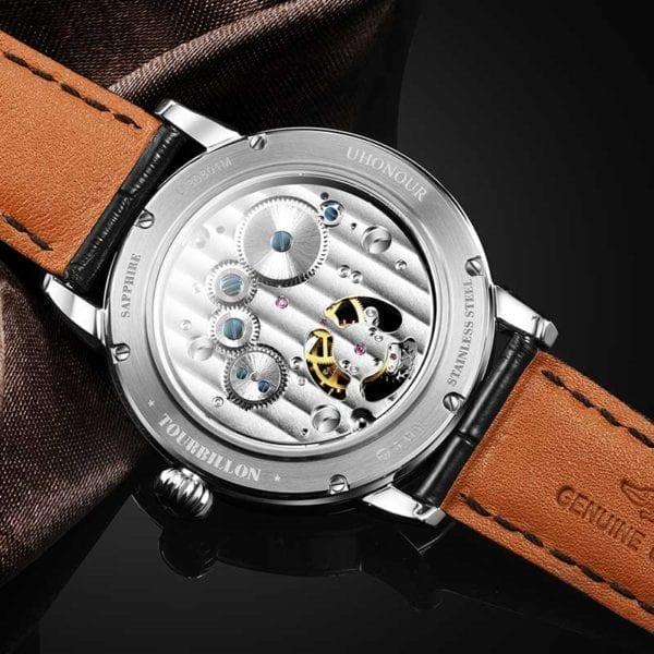 Luxury Switzerland Mechanical Watch Men s Seagull Tourbillon ST8007 Movement Hollow Men Wrist Watches Calendar Reloj 8