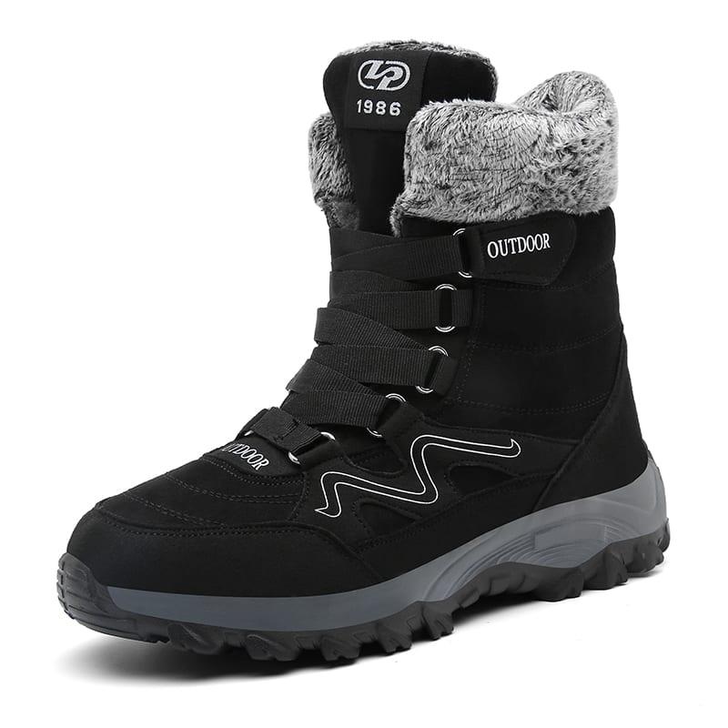 MARSON Men Boots Winter With Fur 2019 Warm Snow Boots Men Winter Boots Work Shoes Men