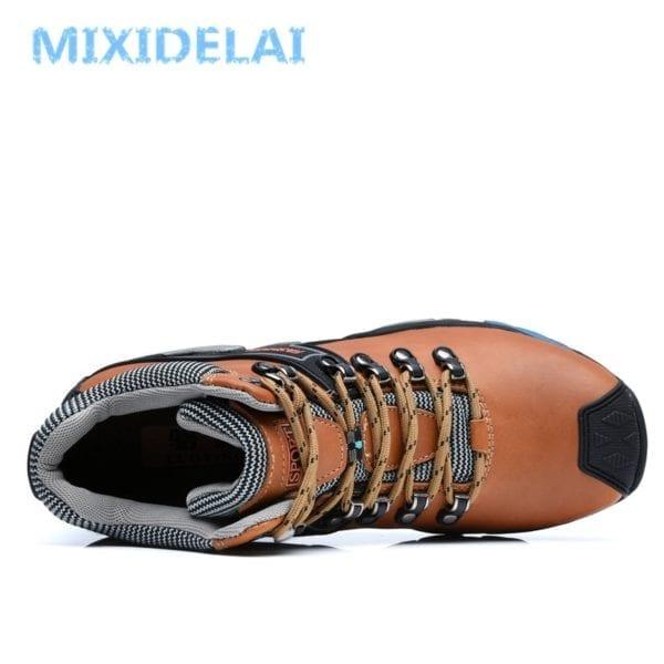 MIXIDELAI Men Boots Size 38 46 Fashion Men Winter Boots Waterproof Men Snow Boots Lace Up 2